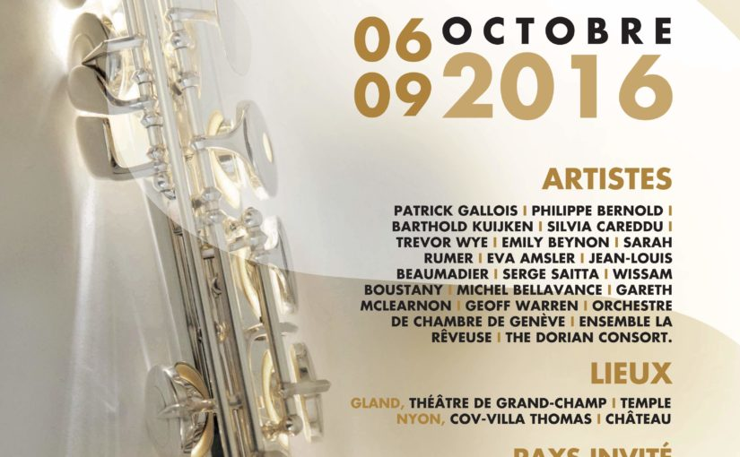 Flute Festival in Switzerland in October 2016 !